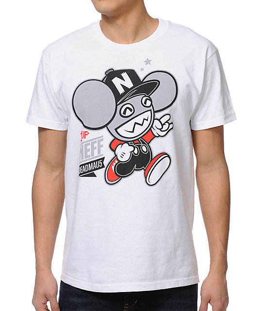 Neff x Deadmau5 Neffmau5 1 Up White T-Shirt