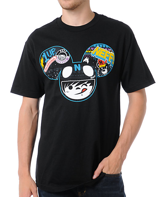 Neff x Deadmau5 Neffmau5 Radder Black T-Shirt
