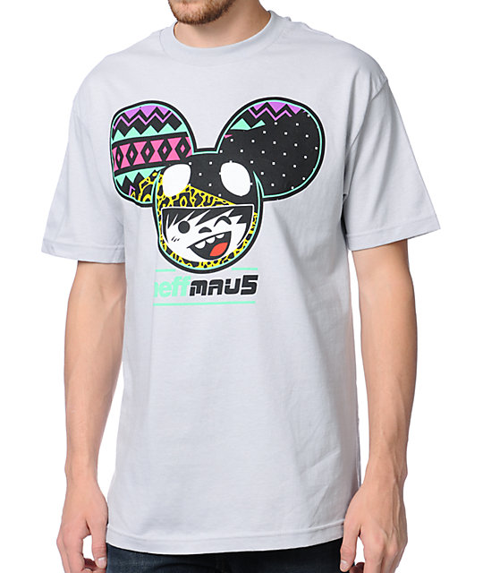 Neff x Deadmau5 Rad Mouse Grey T-Shirt