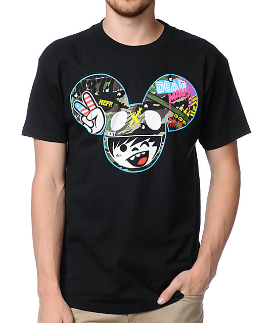 Neff x Deadmau5 SGT Radder Black T-Shirt