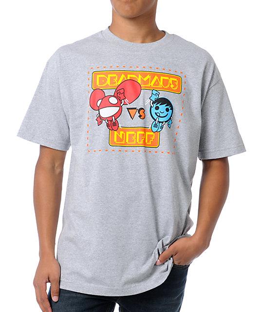 Neff x Deadmau5 Versus Neffmau5 Athletic Grey T-Shirt