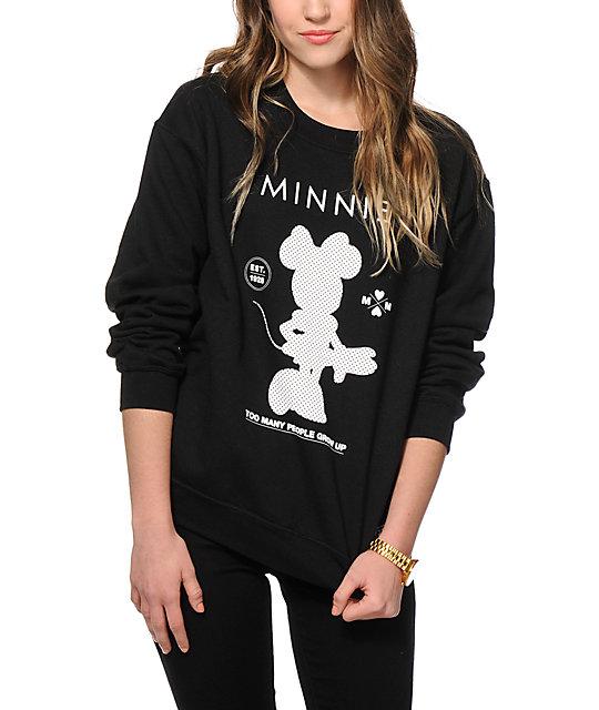 x Disney Minnie Stand Up Crew Neck Sweatshirt