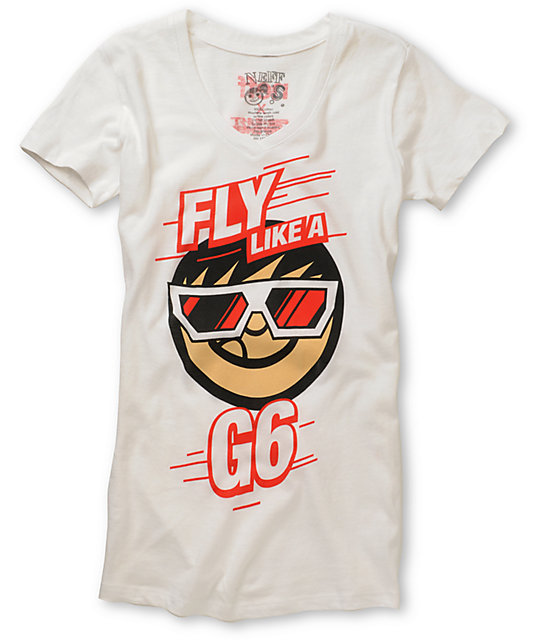 Neff x Far East Movement Like A G6 White V-Neck T-Shirt