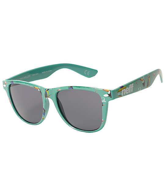 Neff x Mac Miller Daily Bird King Mint Sunglasses