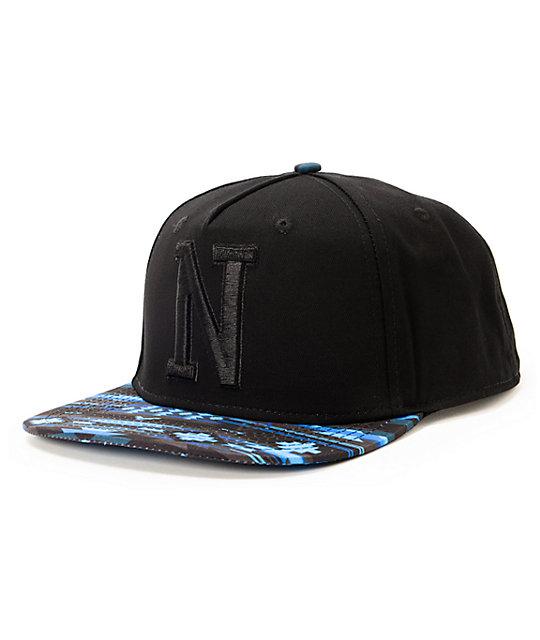 Neff x Mac Miller Machahat Black & Blue Snapback Hat
