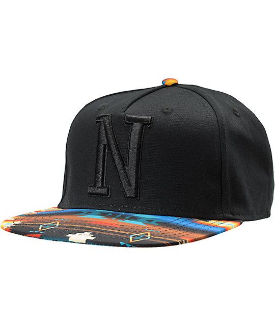 Neff x Mac Miller Milltop Black & Tribal Print Snapback Hat