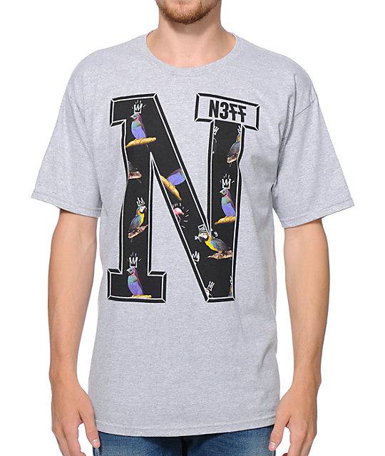 Neff x Mac Miller N Grey T-Shirt