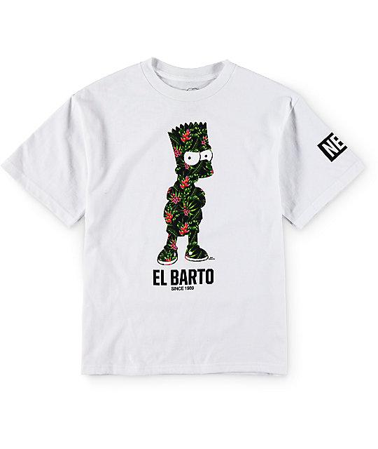 Neff x The Simpsons Boys Floral El Barto T-Shirt