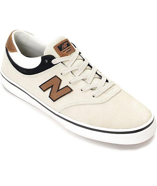 New Balance 254 Qunicy Stone, Black & Tan Shoes