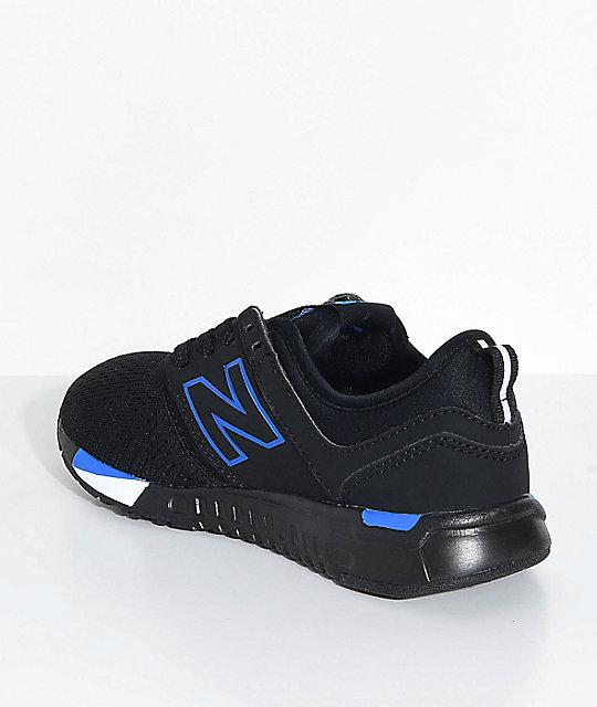 new balance blue and black
