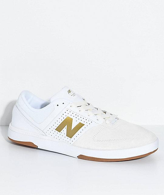 new balance white gold