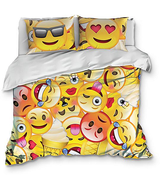 Night Shift Emoji Queen Comforter Set Zumiez