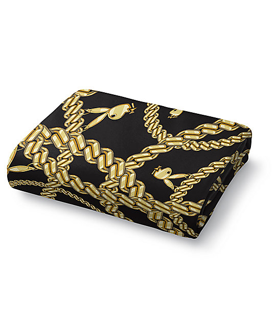 Night Shift X Playboy Chains Coral Sherpa Fleece Blanket