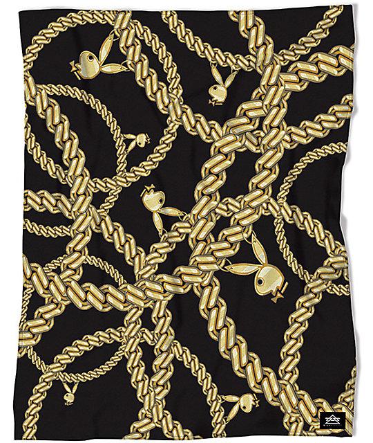 Night Shift X Playboy Chains manta de vellón sherpa en color coral