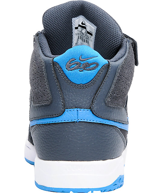 Nike 6.0 Air Mogan Mid 2 Grey, Imperial Blue & White Shoes