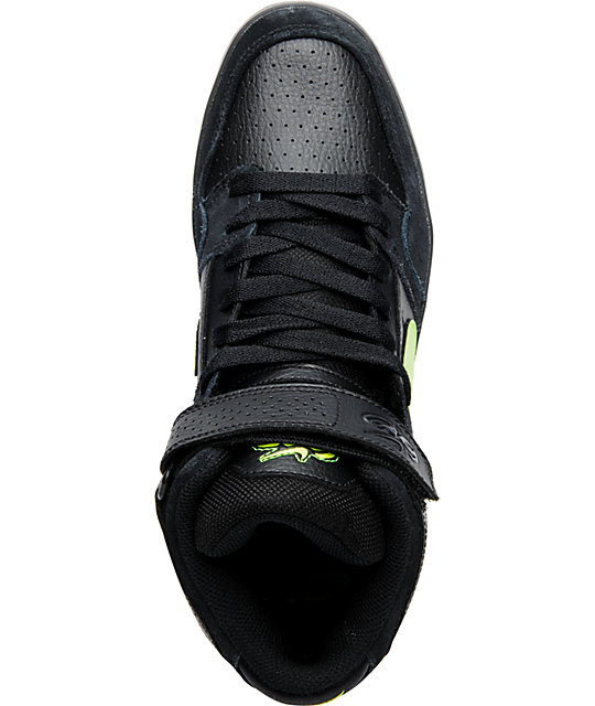 Nike 6.0 Air Mogan Mid 2 LR Black & Volt Shoes