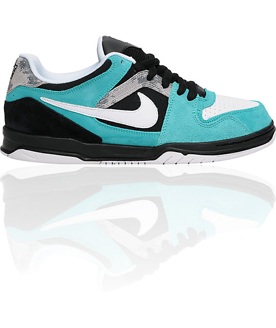 Black And Turquoise Nike Skate Shoes