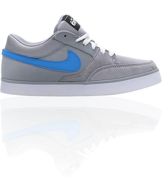 Nike 6.0 Avid Boys Grey & Blue Shoes