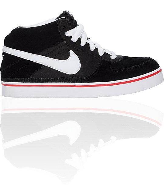 Nike 6.0 Boys Mavrk 2 Mid Black & White Shoes