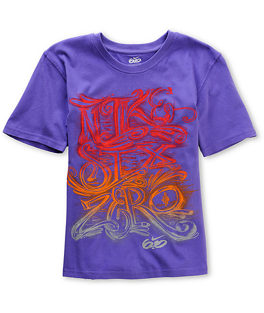 Nike 6.0 Boys Six O Script Purple T-Shirt