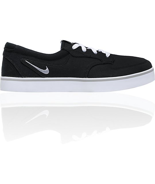 nike 6 0 skate shoes. nike 6.0 braata black, white \u0026 gum canvas skate shoes 6 0 e