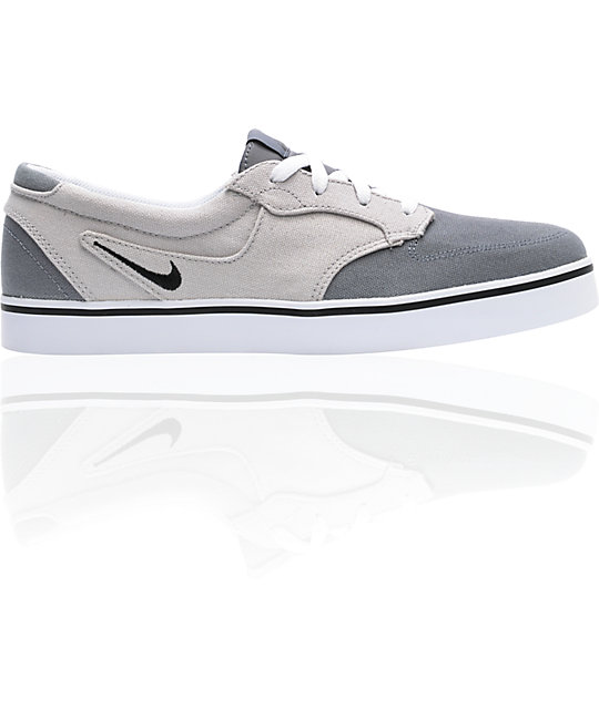 Nike 6.0 Braata Grey Canvas Skate Shoes