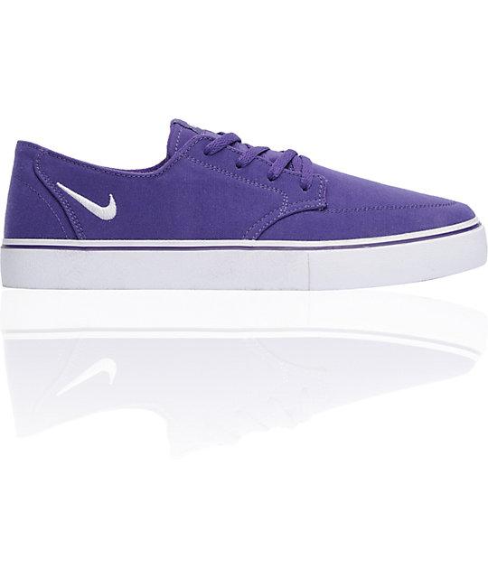 nike 6 0 skate shoes. nike 6.0 braata lr club purple \u0026 white canvas skate shoes 6 0 3