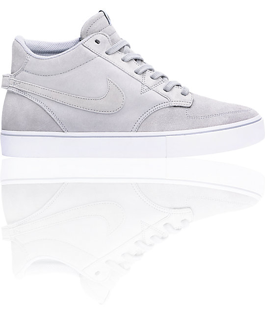 Nike 6.0 Braata LR Mid Grey Skate Shoes