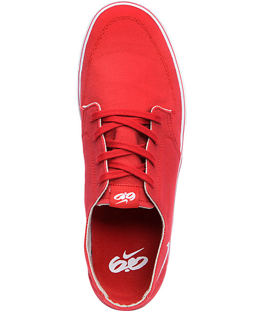 Nike 6.0 Braata LR Red & White Skate Shoes