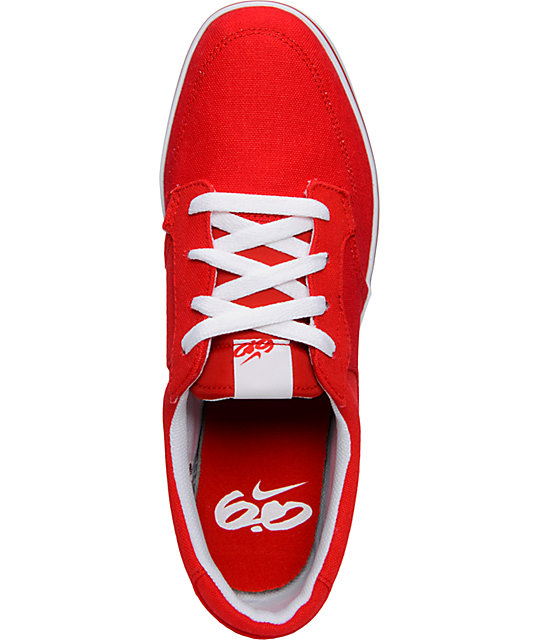 Nike 6.0 Braata Red Canvas Skate Shoes