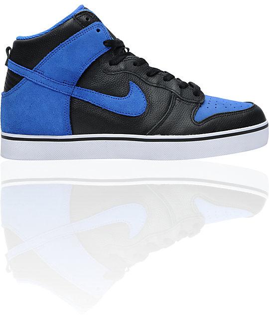 Nike 6.0 Dunk SE High Black & Royal Skate Shoes