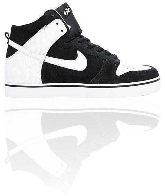 Nike 6.0 Dunk SE High Black & White Shoes
