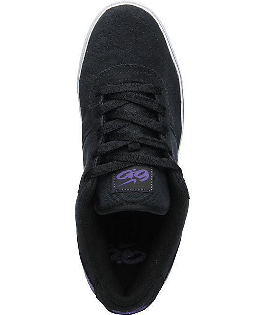 Nike 6.0 Mavrk 2 Low Black & Club Purple Skate Shoes