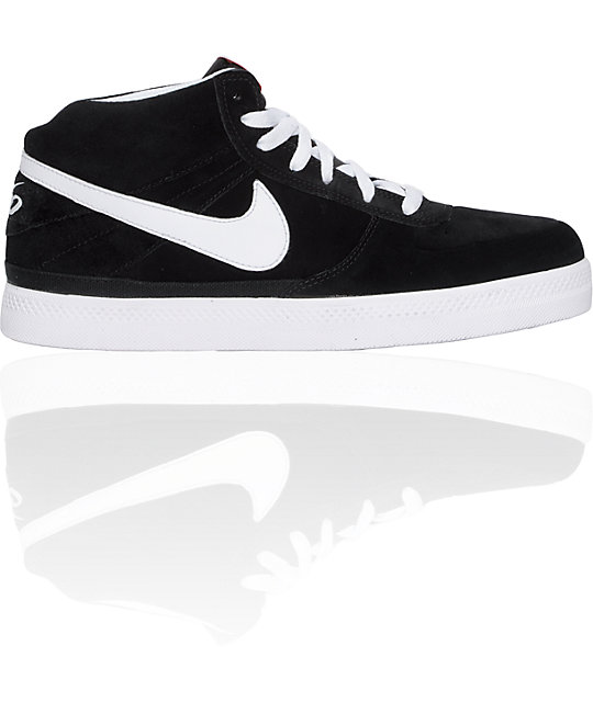 Nike 6.0 Mavrk 2 Mid Black & White Shoes