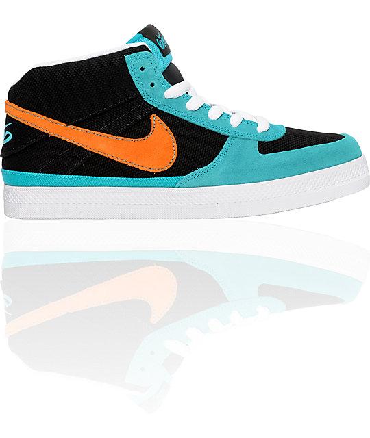 Nike 6.0 Mavrk 2 Mid Turquoise & Orange Shoes