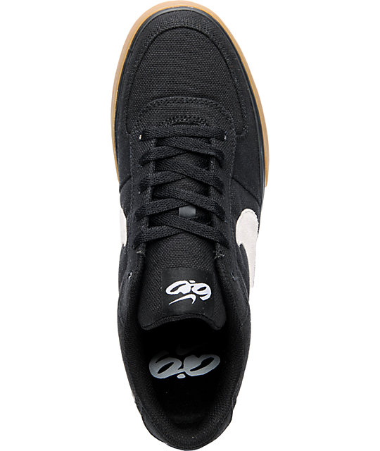 Nike 6.0 Mavrk Black, White & Gum Canvas Skate Shoes