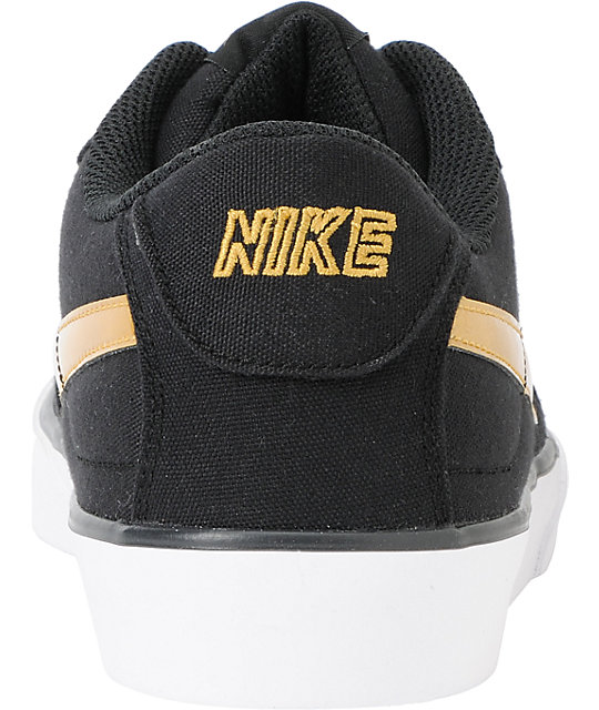 Nike 6.0 Mavrk Black & Gold Shoes