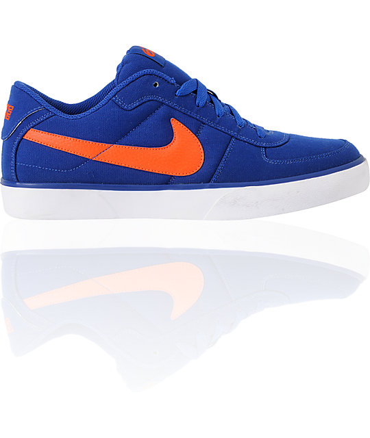 nike 6 0 skate shoes. nike 6.0 mavrk deep royal blue \u0026 team orange skate shoes 6 0 2