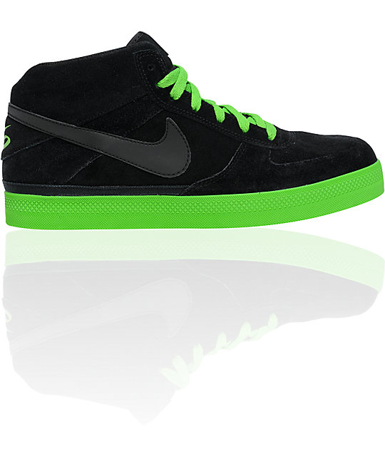 Nike 6.0 Mavrk Mid 2 Black & Green Apple Shoes