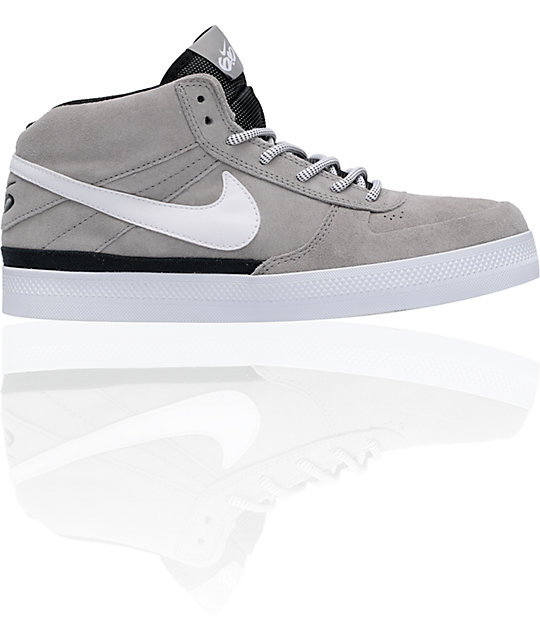 Nike 6.0 Mavrk Mid 2 Grey, White & Black Shoes