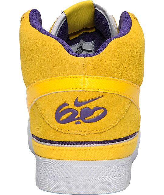 Nike 6.0 Mavrk Mid 2 Yellow & Purple Shoes