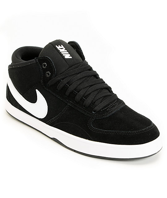Nike 6.0 Mavrk Mid 3 Black & White Shoes