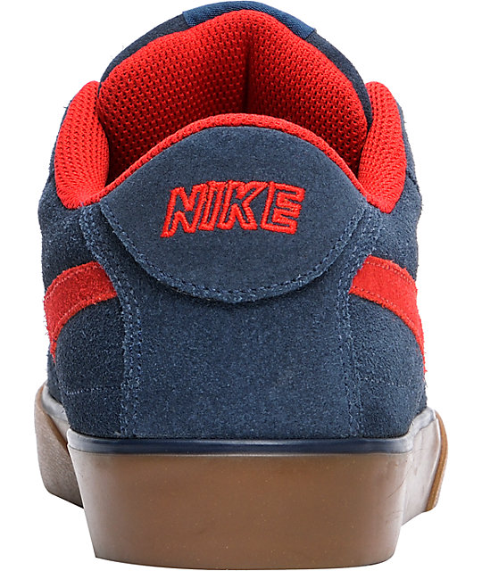 Nike 6.0 Mavrk Navy, Red & Gum Shoes