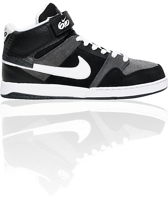 Nike 6.0 Mogan Mid 2 Black, White & Grey Shoes