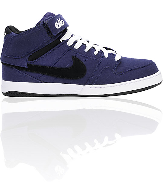 Nike 6.0 Mogan Mid 2 Purple & Black Shoes