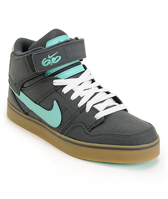 Nike 6.0 Mogan Mid 2 SE Anthracite & Tropical Twist Skate Shoes