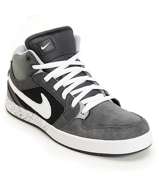 Nike 6.0 Mogan Mid 3 Lunarlon Anthracite, Wolf Grey, & White Shoes