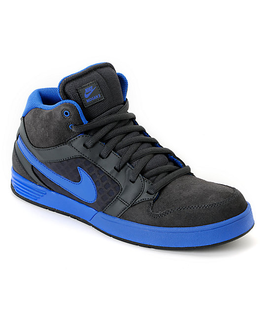 Nike 6.0 Mogan Mid 3 Lunarlon Anthracite, Royal, & Black Shoes