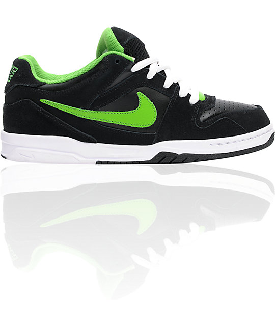 Nike 6.0 Oncore Black, White, & Green Apple Shoes