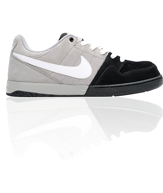 Nike 6.0 Zoom Mogan 2 Grey, Black, & White Skate Shoes
